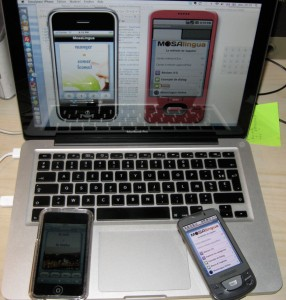 developpement mosalingua iPhone (iPod Touch), Android (Samsung Galaxy)
